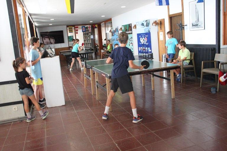 activitat, social, nens, ping pong