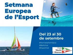 Setmana Europea de l'Esport 2019 - Esportiva, Vela -