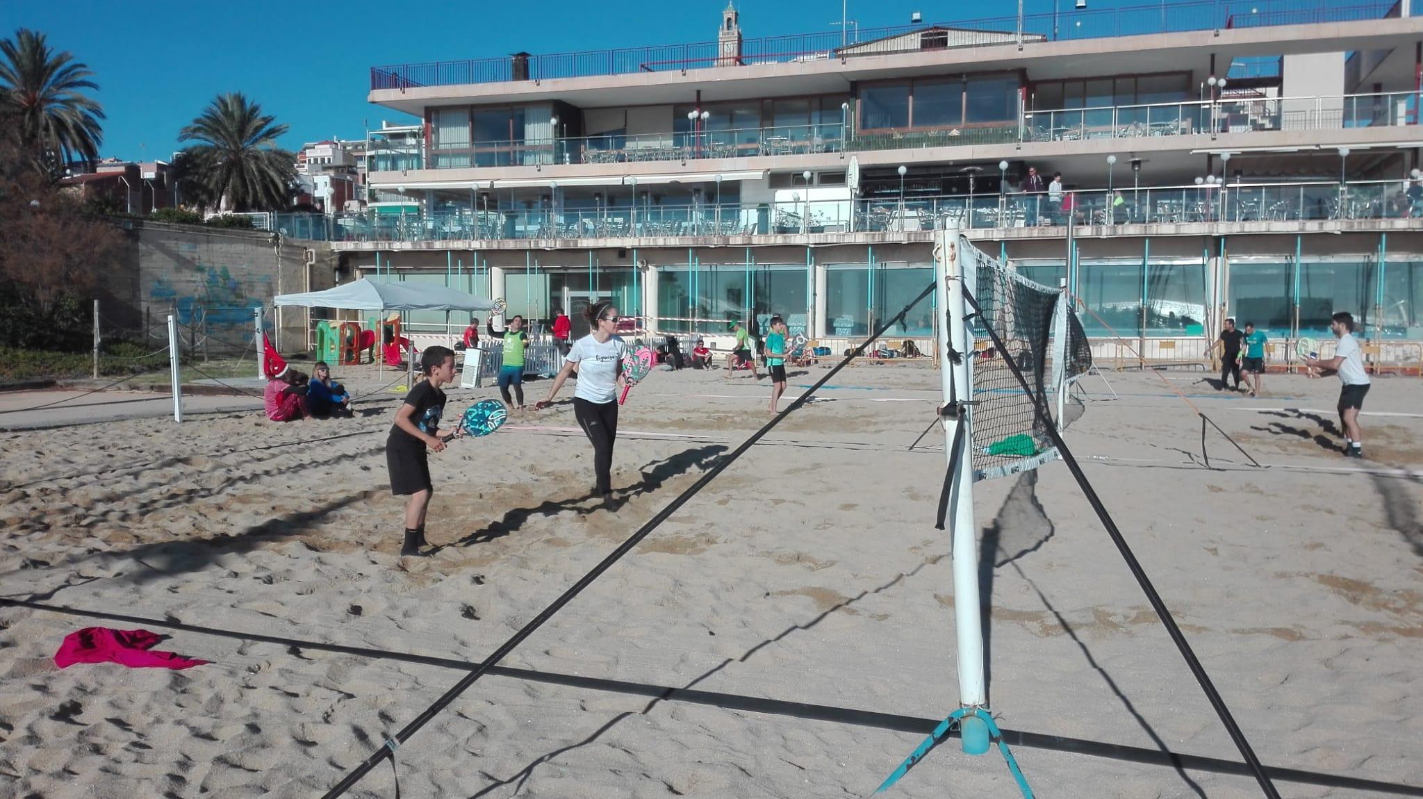 beach tennis, platja, tennis, esport, nens