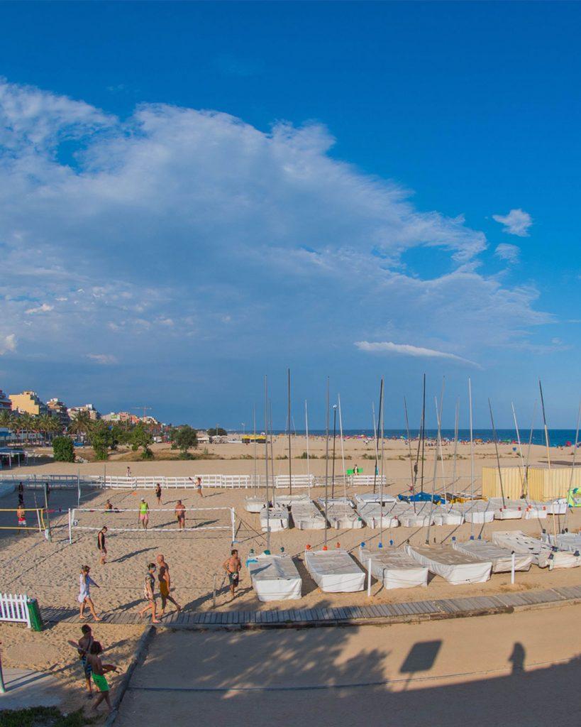 club nàutic el masnou, cnem, tennis platja, beach tennis, esport, platja, mar