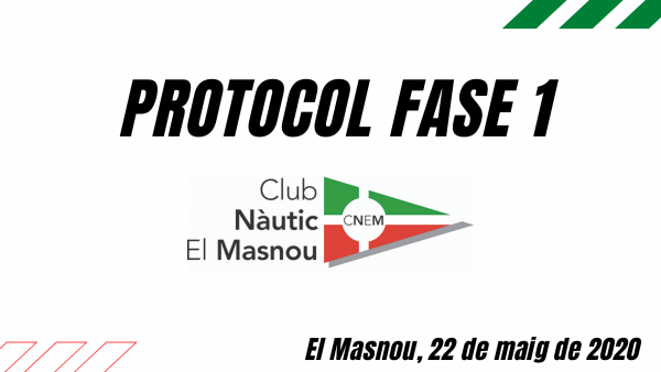 Protocol Fase 1 Club Nàutic El Masnou - cnem, covid19, pandèmia, protocol -