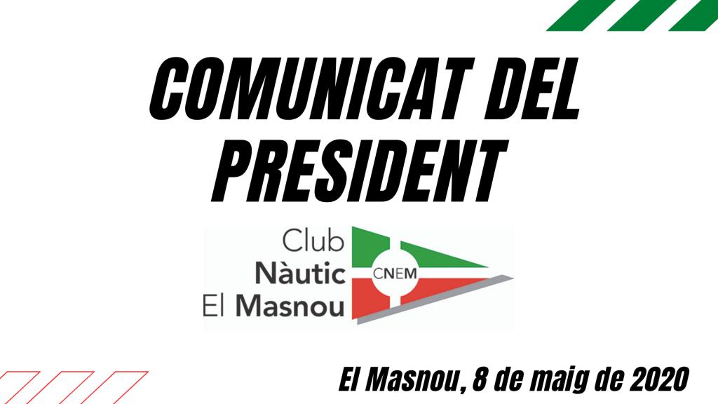 Comunicat del President 08/05/2020 -