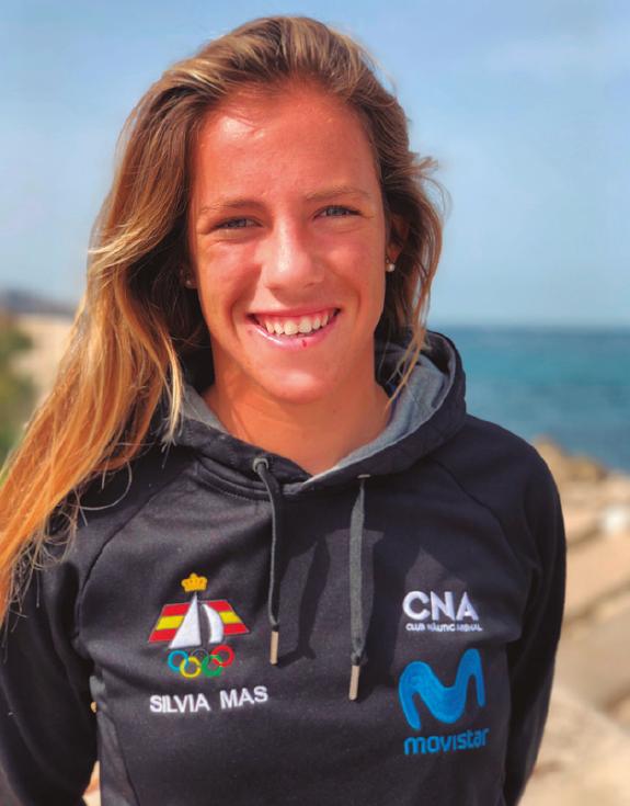Sílvia Mas, a la revista d'El Masnou - 2021, cnem, El Masnou, Federació Catalana de Vela, regatista, Sílvia Mas -