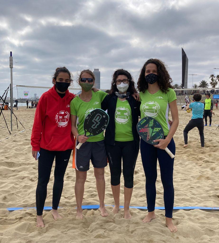 equip femeni, beach tennis, cnem, tennis platja