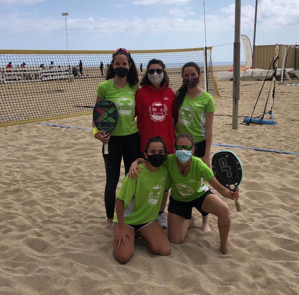 beach tennis, equip femení, cnem