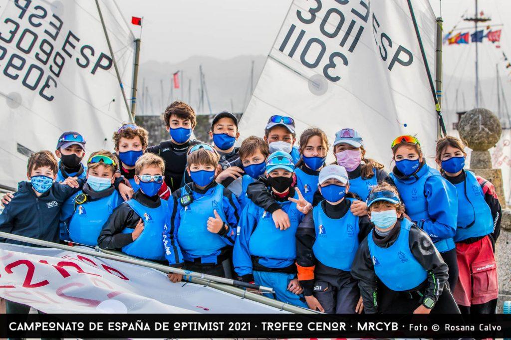1a jornada sense vent, al Campionat d'Espanya d'Optimist - 2021, Baiona, Campionat d'Espanya, Optimist - Optimist