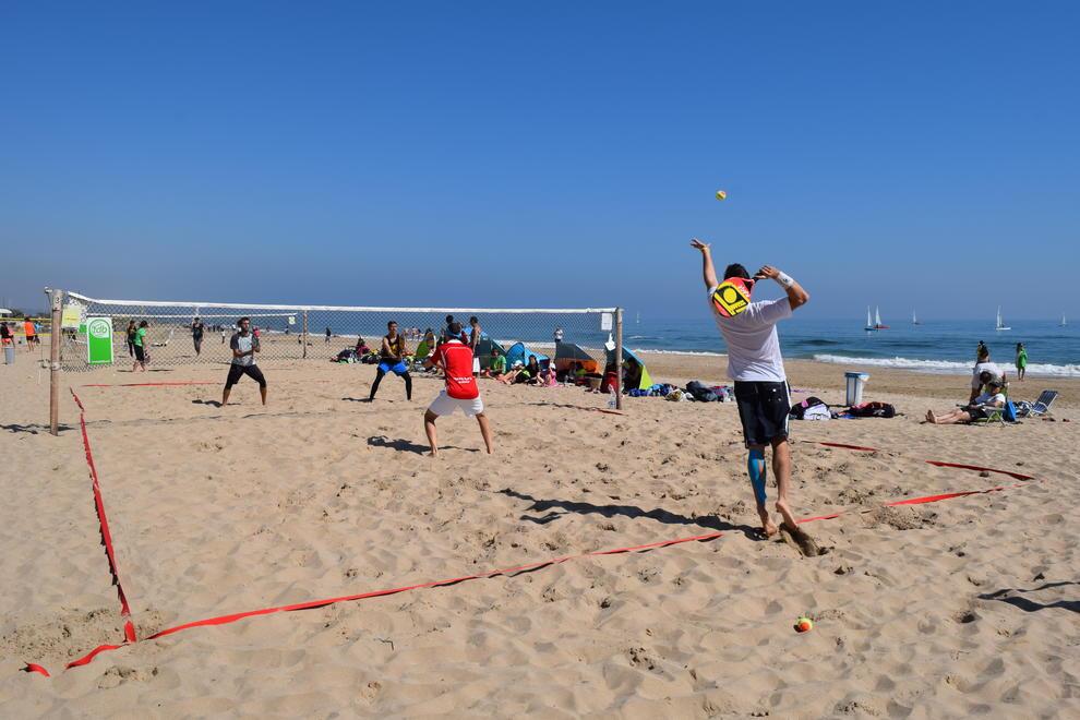 beach tennis, platja, tennis, partit