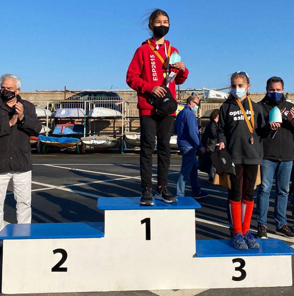 Campionat de Cataunya, optimist, Anna Rentería, 2021, podi