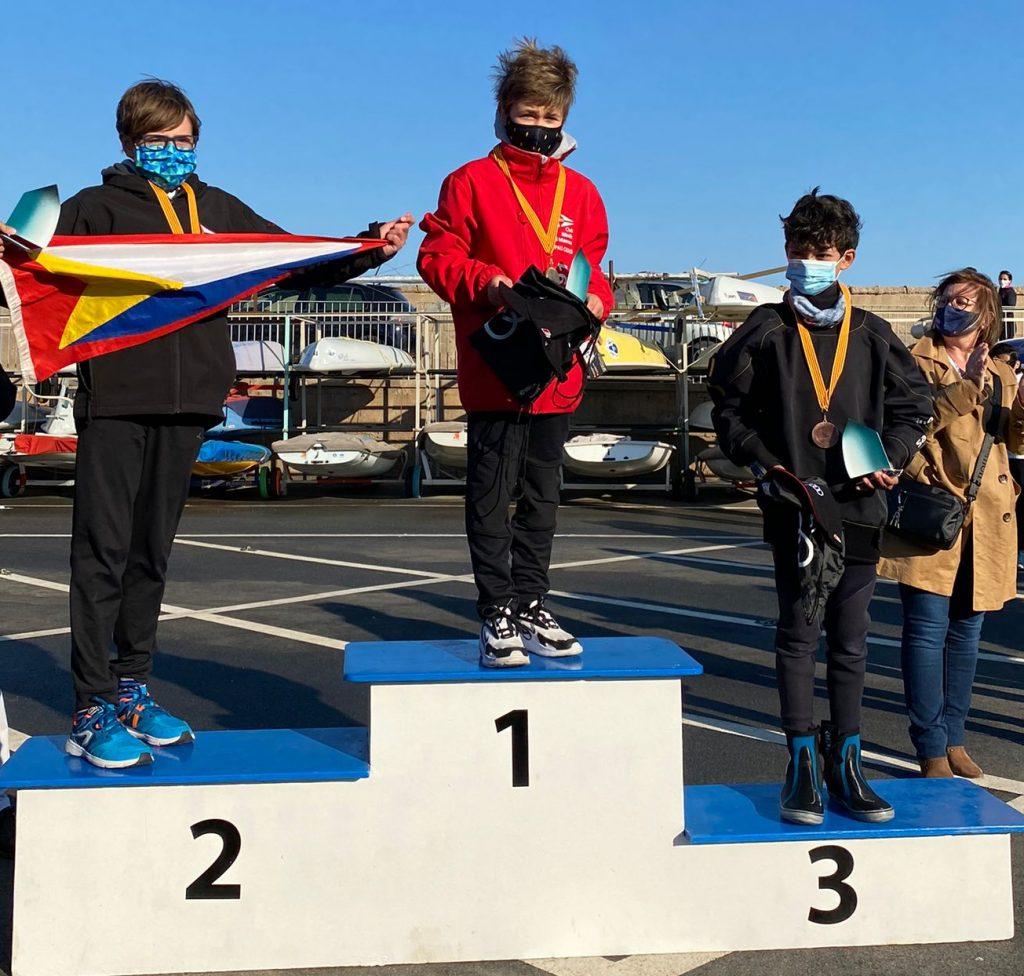 Campionat de Cataunya, optimist, Pau Casas, 2021, podi