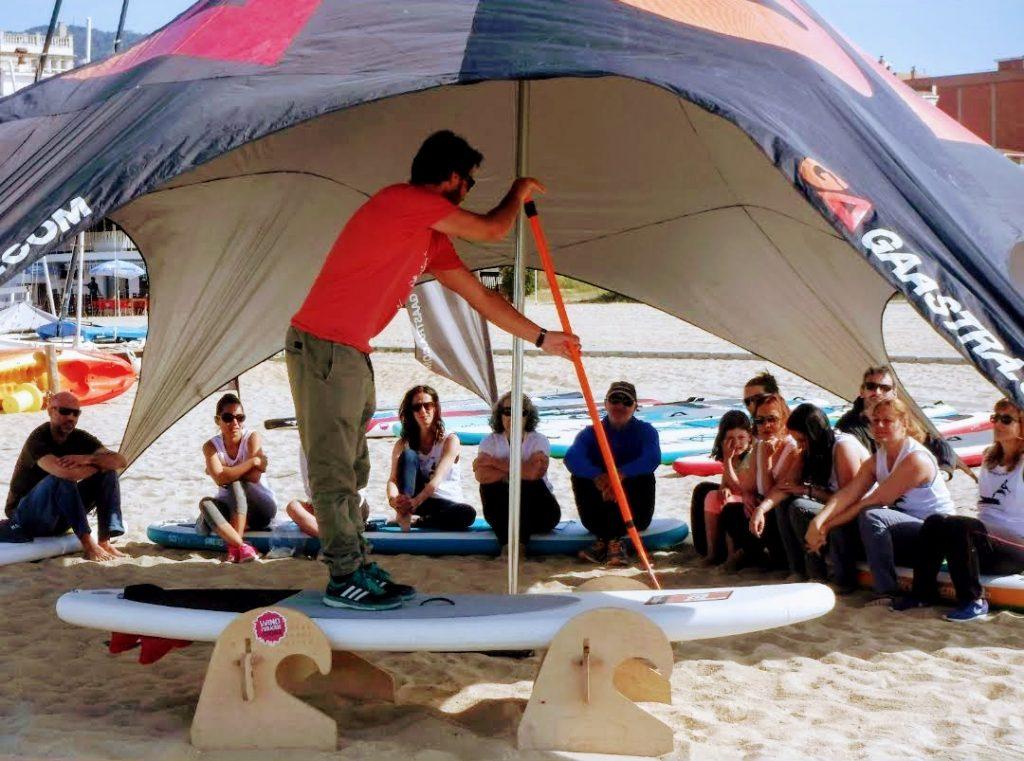 paddlesurf, clinic, platja, beach area