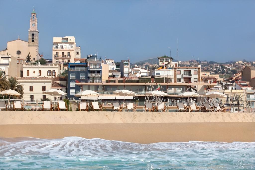 platja, club nàutic, gandula, parasols, nàutic, estiu, relax