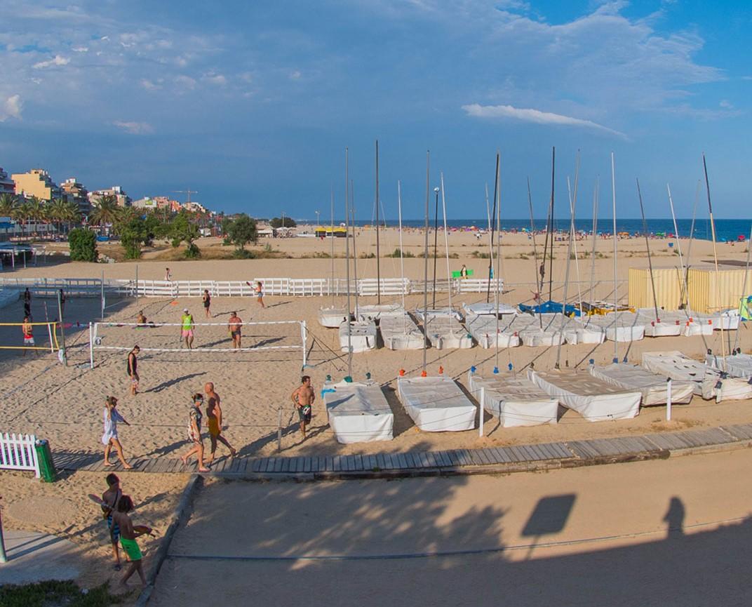 platja, club, nàutic, estiu, instalacions