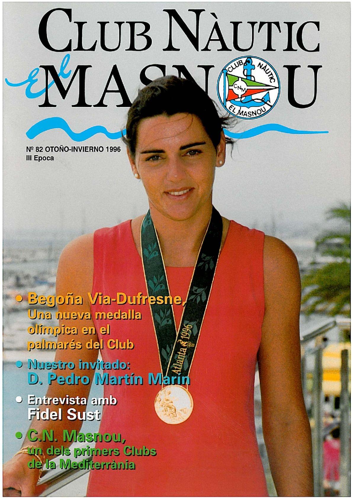 begonya palmares_p, Begonya Via Dufresne, 1996, portada, palmarès, nautic, medalla, JJOO, olímpica, història, revista