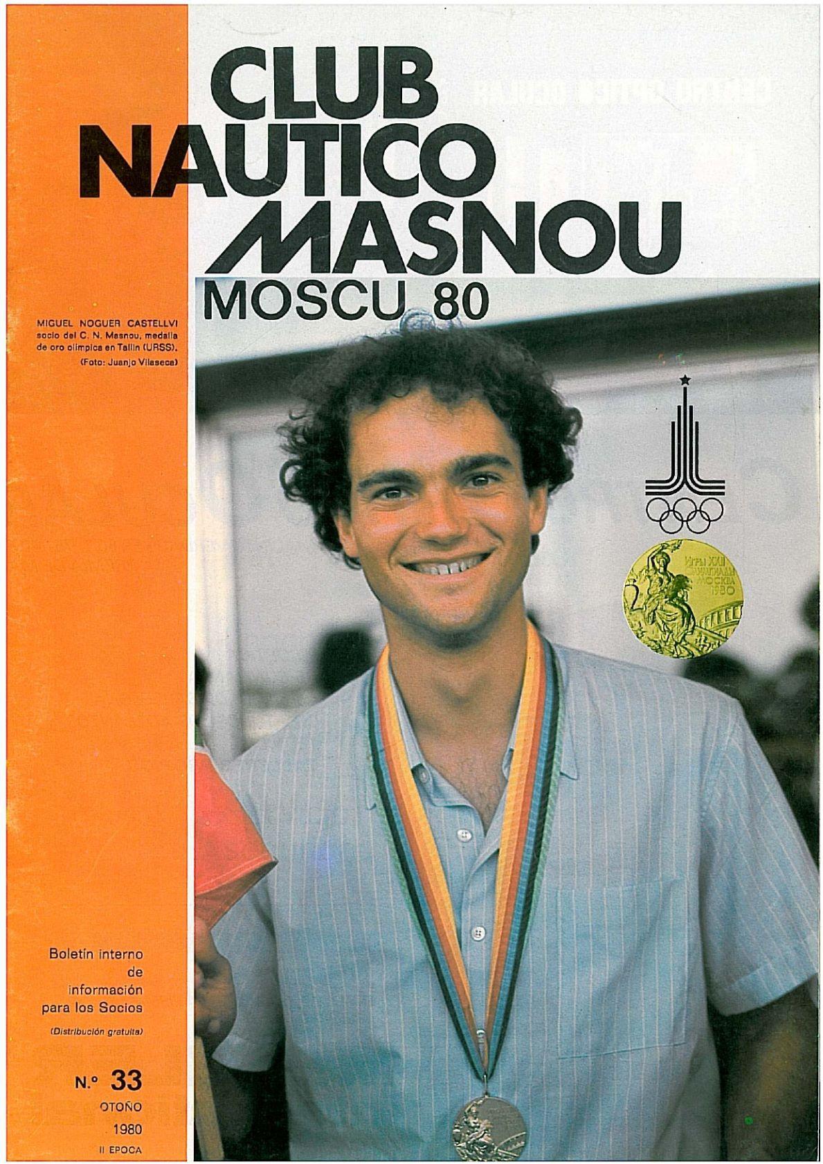 miquel noguer 1980_p, Miquel Noguer, portada, palmarès, nautic, 1980, medalla, JJOO, olímpica, història, revista