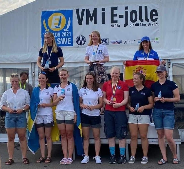 Campionat Món, Europa, 2021, podi, femení