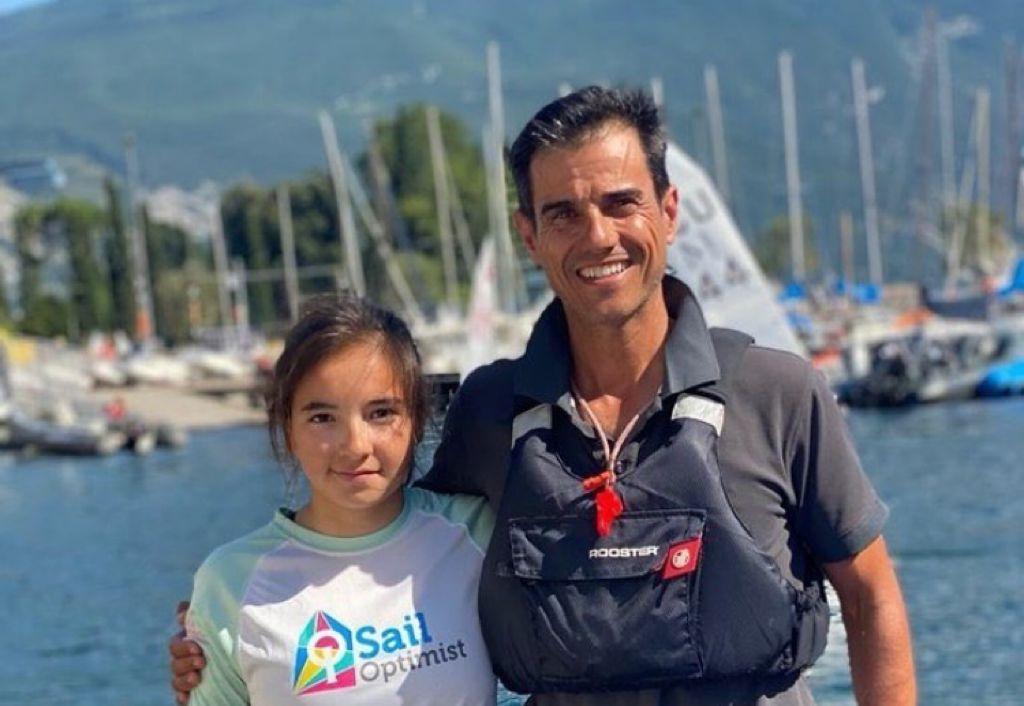 Ona Garcia, Joan Garcia, Optimist, equip, entrenador