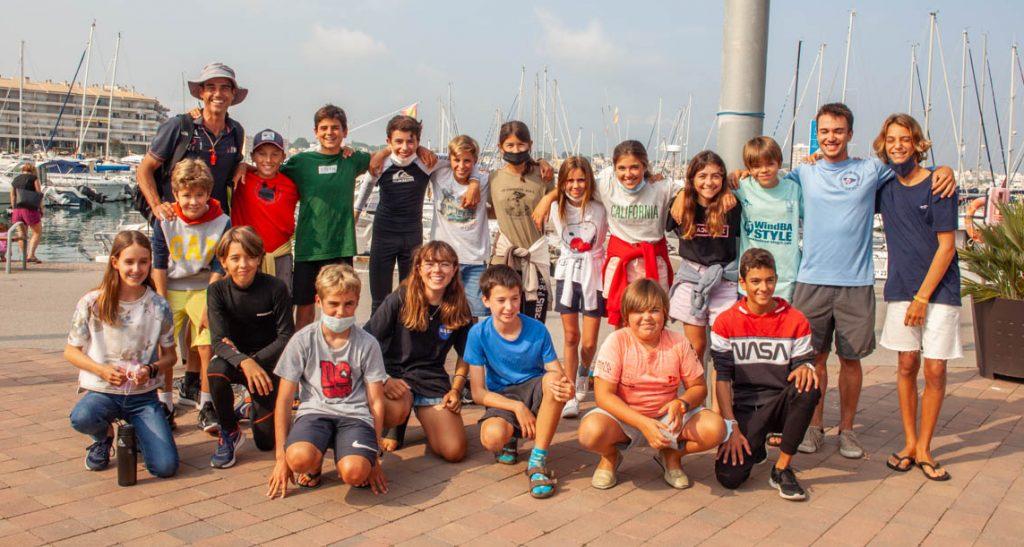 Trofeu Empuries, l'Escala, grup, optimist, regata, 2021