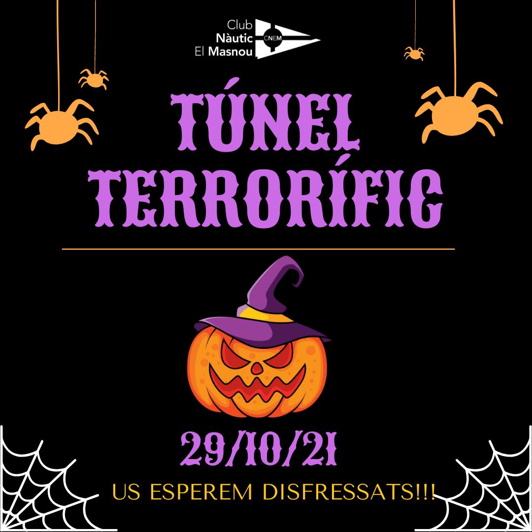 cartell, halloween, 2021, túnel terrorífic